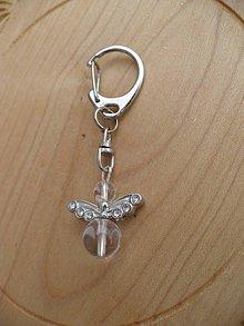 Iné šperky - prívesok na kľúče anjel-Krištáľ - 9064253_