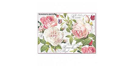 Papier - Ryžový papier Stamperia č.DFS394 - 48x33cm, ihneď - 9068292_