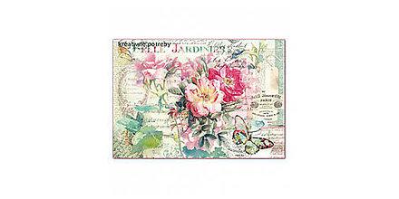 Papier - Ryžový papier Stamperia č.DFS395 - 48x33cm, ihneď - 9068330_