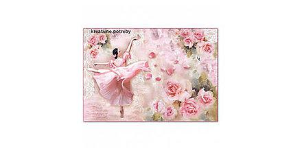 Papier - Ryžový papier Stamperia č.DFS399 - 48x33cm, ihneď - 9068365_