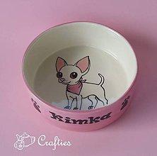 Pre zvieratká - Miska pre psa s menom - čivava - 9068113_