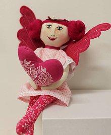 Dekorácie - slečna MARA anjelská / pink - 9064929_