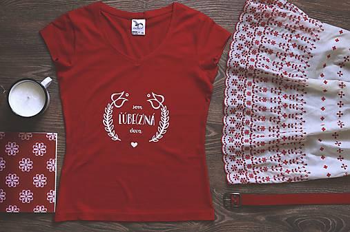 Som ľúbezná deva XL (červené tričko) - AKCIA