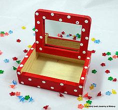 Krabičky - šperkovnička Červenej čiapočky so zrkadielkom - 9068541_