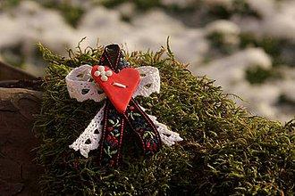 Pierka - Svadobné pierko folk čierna stuha - 9069054_