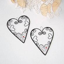 Dekorácie - srdiečko s ornamentom 10cm - 9070537_