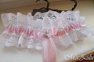 Bielizeň/Plavky - Svadobný podväzok pre nevestu - 9069689_