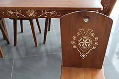 Nábytok - Drevené stolčky stôl - 9069930_