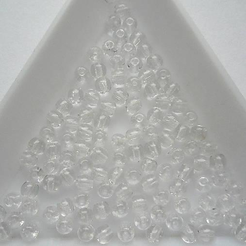 Skl.korálky 3mm-20ks (krystal)