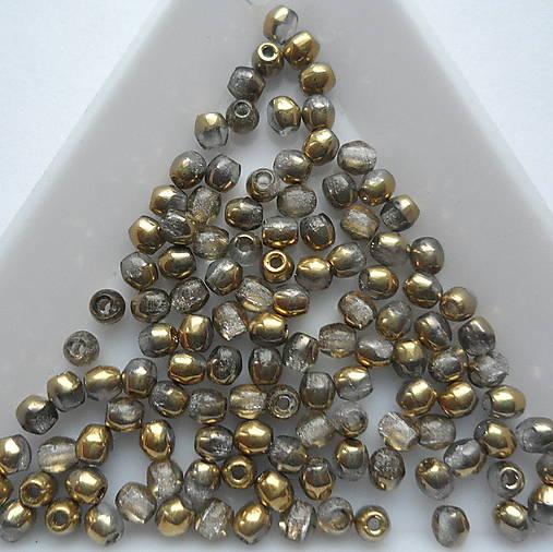 Skl.korálky 3mm-20ks (silky gold)