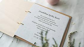 Papiernictvo - Drevená svadobná kniha hostí (50 listov 180g) - 9070275_