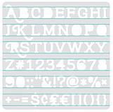 Pomôcky/Nástroje - Šablóna Písmo, čísla a znaky Šerif - 9072171_