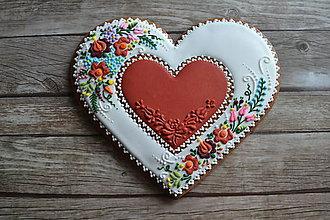 Dekorácie - Valentínsky medovník v ľudovom - 9073208_