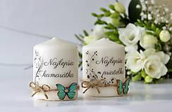 Svietidlá a sviečky - Duo sviečok