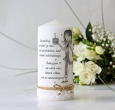 Svietidlá a sviečky - Vintage štýl sviečka - pre najlepšiu priateľku II. - 9071413_