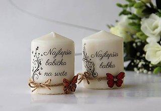 """Svietidlá a sviečky - Duo sviečok """"Najlepšia babička"""" - 9072539_"""