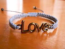 - Náramok LOVE - 9072072_