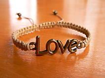 - Náramok LOVE - 9072174_