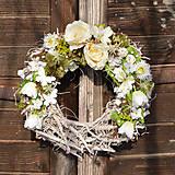 - Jarný veniec na dvere (veniec s kytičkou) - 9073590_