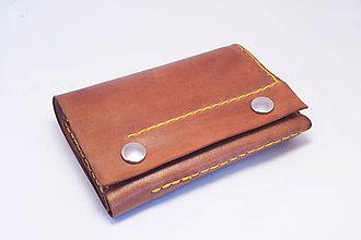 Peňaženky - Kožená peňaženka MontMat-ořech - 9071079_