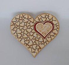 Drobnosti - Drevené srdce - s nápisom - 9069636_