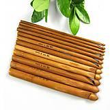 Galantéria - IP110 Sada 12 ks bambusových háčikov - 9071820_