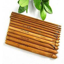 Galantéria - Sada 12 ks bambusových háčikov - 9071820_