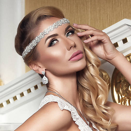 cfce6023fa9 Glamour krištáľová čelenka TIFFANY   MarieeDesign - SAShE.sk ...