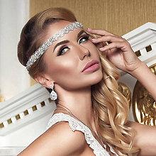 Ozdoby do vlasov - Glamour krištáľová čelenka TIFFANY - 9071496_