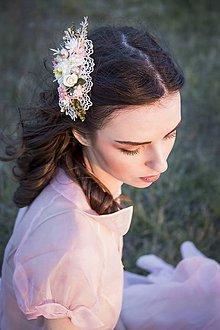 Ozdoby do vlasov - Kvetinová sponka