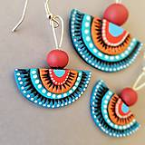 Sady šperkov - Červeno-modré - 9070433_