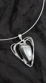 Náhrdelníky - Hematit heart 18_02 - 9072580_