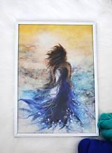 Obrazy - Romantický vlnený obraz - 9070493_