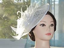 - Svadobný klobúčik - fascinátor - 9070570_