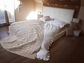 Úžitkový textil - Luxusný ľanový prehoz Purity (140x200 cm - Biela) - 9072681_
