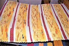 - Tkaný koberec žlto-oranžovo-škoricový - 9069527_