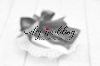 Papiernictvo - Svadobné oznámenie na mieru - 9075875_