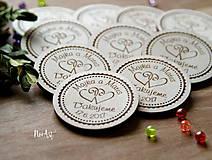 Magnetky pre svadobných hostí srdiečka