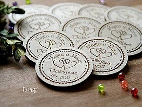 Darčeky pre svadobčanov - Magnetky pre svadobných hostí srdiečka - 9077096_