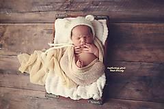 Detské čiapky - Čiapka pre novorodenca - 9076029_