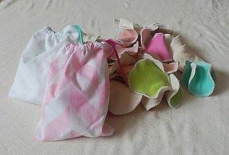 Úžitkový textil - ZERO WASTE odličovacie kozmetické tampóniky 10KS+ bavlnené vrecko so šnúrkou - 9075017_