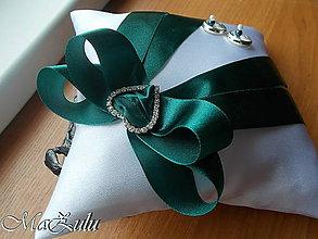 Prstene - svadobný vankúšik pod obrúčky - 9076245_