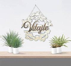 Dekorácie - Vitajte - dekorácia na stenu - 9073722_