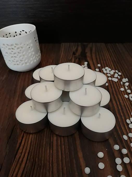 Čajové sviečky zo 100% sójového vosku - Natural