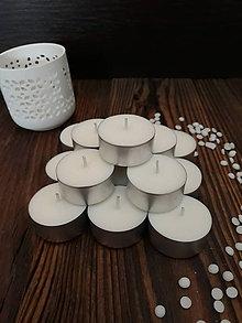 Svietidlá a sviečky - Čajové sviečky zo 100% sójového vosku - Natural - 9074961_