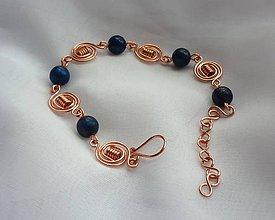 Sady šperkov - Lapis lazuli - náramok s náušnicami - 9077504_