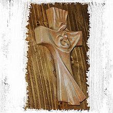 Dekorácie - Drevený Kríž - 9077378_