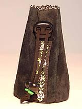 Peňaženky - M003 kožený meštek čierny s tmavozeleným odtieňom - 9076700_
