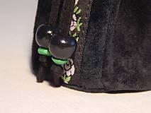 Peňaženky - M003 kožený meštek čierny s tmavozeleným odtieňom - 9076701_