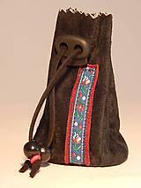 Peňaženky - M004 kožený meštek čierny s tmavozeleným odtieňom - 9076727_